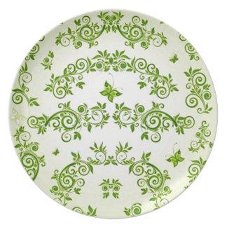 verde de com formas de caracol em del padrão plato