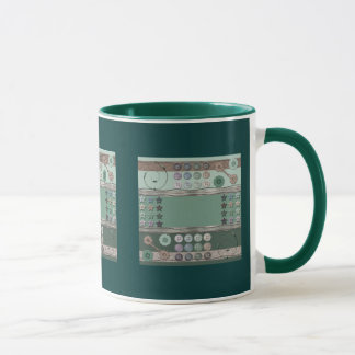 Verde de costura del entusiasta taza
