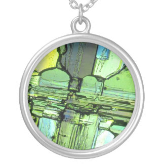 Verde de cristal quebrado del colgante del arte