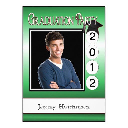 Verde de encargo de la foto de la fiesta de gradua anuncio
