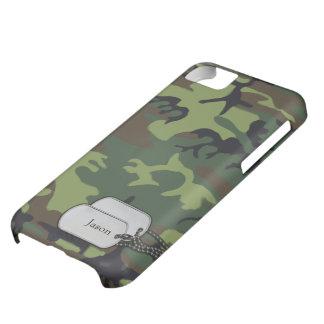 Verde de Forrest y camuflaje de los militares de B Funda Para iPhone 5C