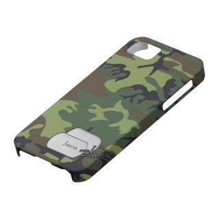 Verde de Forrest y camuflaje de los militares de iPhone 5 Funda