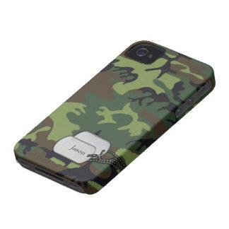 Verde de Forrest y camuflaje de los militares de Case-Mate iPhone 4 Cárcasa