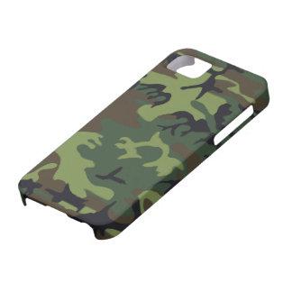 Verde de Forrest y camuflaje de los militares de iPhone 5 Fundas