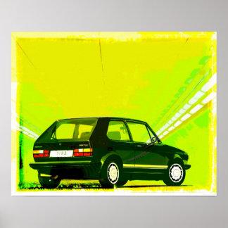 Verde de GTi MkI del golf Posters