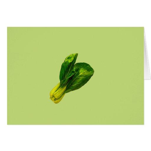 Verde de guisante Bok Choy Tarjetas