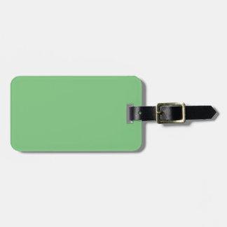 Verde de hierba elegante - el tender del color de  etiqueta para equipaje
