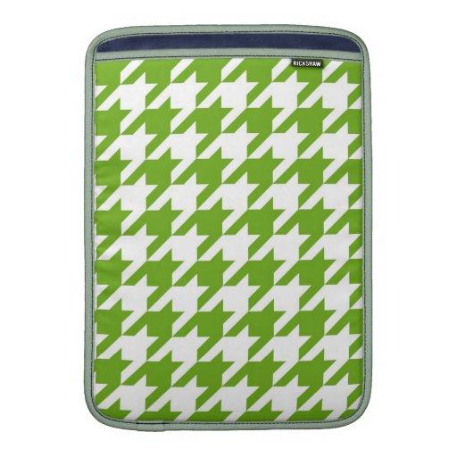 Verde de hierba Houndstooth Fundas Para Macbook Air