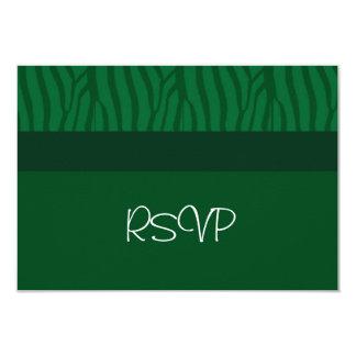 """Verde de hierba que casa RSVP Invitación 3.5"""" X 5"""""""