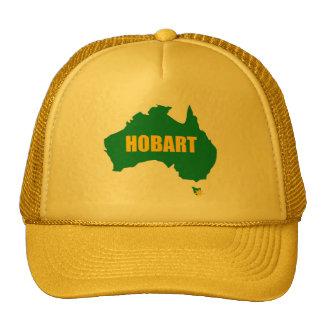 Verde de Hobart y casquillo del mapa del oro Gorros Bordados