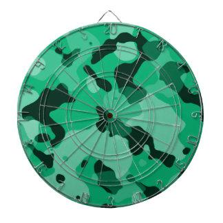 Verde de jade Camo Camuflaje Tabla Dardos