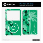 Verde de jade Camo; Palma del verano iPod Video 5G Skins