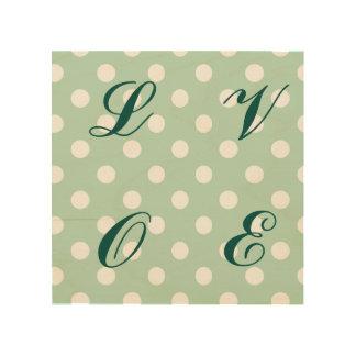verde de jade, lunar, blanco, lindo, femenino, de impresión en madera