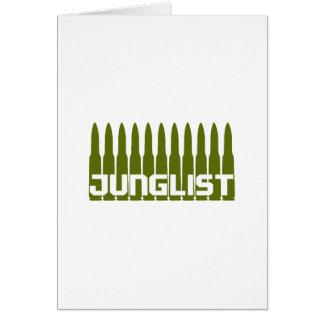 Verde de Junglist Tarjeta De Felicitación