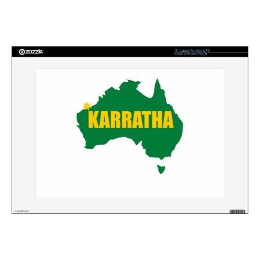Verde de Karratha y mapa del oro Skins Para Portátil