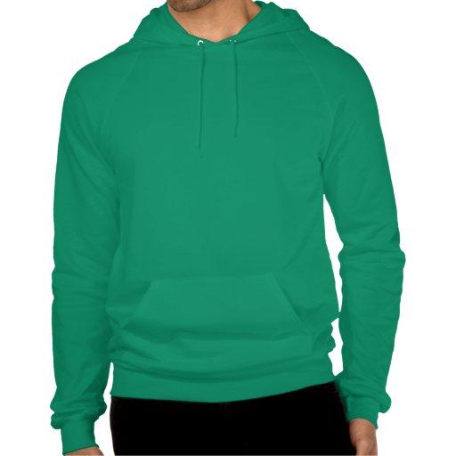 Verde de Kelly de la sudadera con capucha del jers