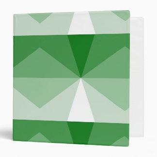 """Verde de Kelly del cubo de la pendiente al blanco Carpeta 1 1/2"""""""