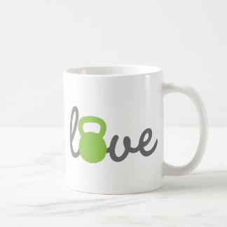 Verde de Kettlebell del amor Taza Clásica