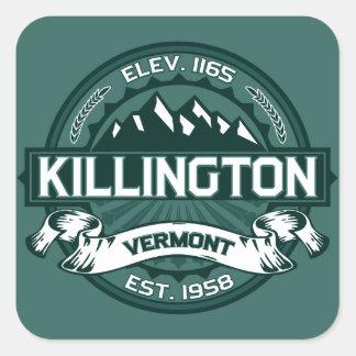 "Verde de Killington ""Vermont "" Pegatina Cuadrada"