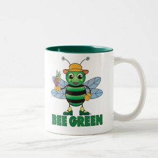Verde de la ABEJA Tazas De Café