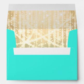 Verde de la aguamarina de Mitzvah del palo y luces Sobre