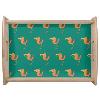 Verde de la aguamarina del pájaro de Tucan