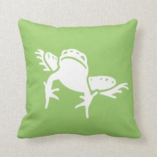 verde de la almohada de la rana