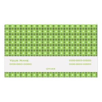 Verde de la amistad tarjeta de visita