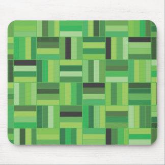 Verde de la armadura de cesta mouse pads