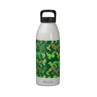 Verde de la ayuda - arte profundo de la selva por  botella de beber