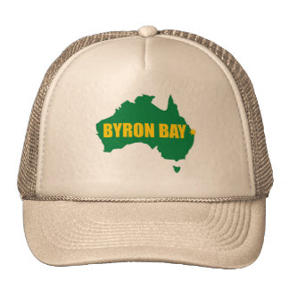 Verde de la bahía de Byron y casquillo del mapa de Gorra