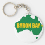 Verde de la bahía de Byron y mapa del oro Llaveros Personalizados