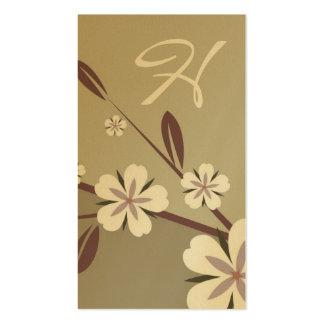 verde de la belleza el | del flor del platino tarjetas de visita