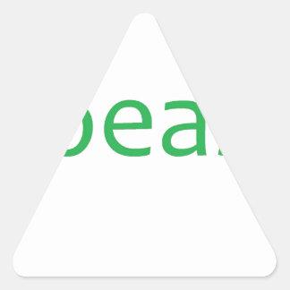 Verde de la bestia pegatina triangular