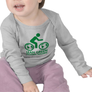 Verde de la bicicleta de la bici camiseta