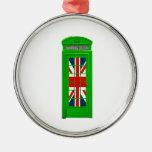 Verde de la cabina de teléfonos de Londres Ornamentos De Reyes