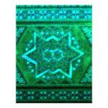 Verde de la caja del mosaico plantillas de membrete