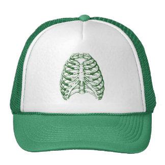 Verde de la caja torácica gorra