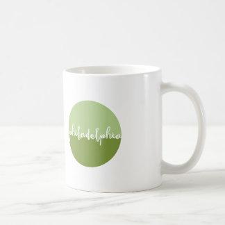 Verde de la caligrafía de Philadelphia Taza Clásica