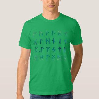 Verde de la camisa de las runas de Viking