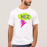 Verde de la camisa del relámpago de Mez, negro,