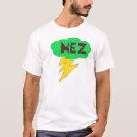 Verde de la camisa del relámpago de Mez, rojo,