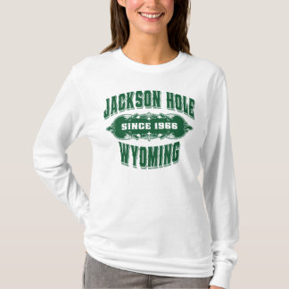 Verde de la colección antigua de Jackson Hole Playera