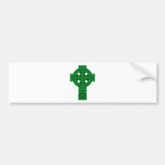 Verde de la cruz céltica pegatina para auto