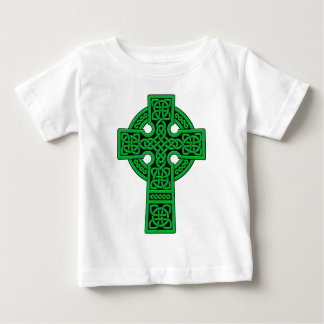 Verde de la cruz céltica tee shirts