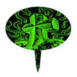 verde de la cruz y del corazón decoración de tarta