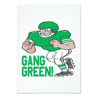 """Verde de la cuadrilla invitación 5"""" x 7"""""""