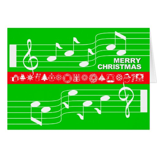 Verde de la cuenta de la nota de la música de la tarjeta pequeña