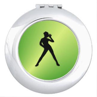 Verde de la danza moderna espejo de viaje