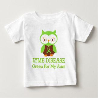 Verde de la enfermedad de Lyme para mi tía Playeras